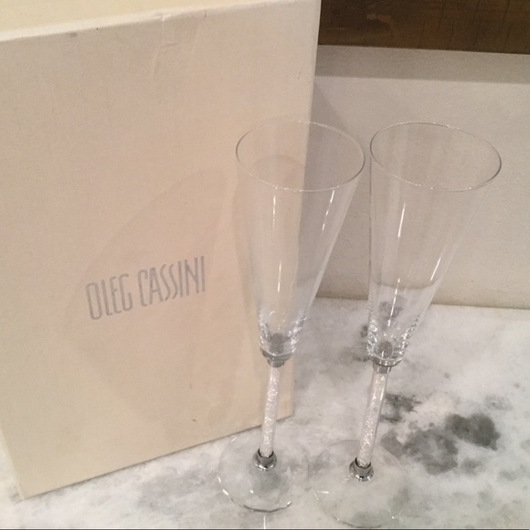 Oleg Cassini Other Crystal Flutes Poshmark